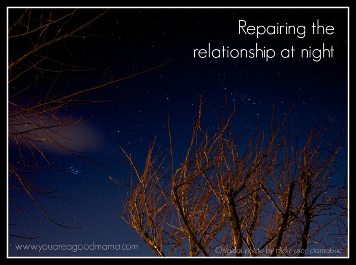 Repairing the relationship at night